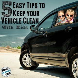 5 easy tips to keep your vehicle clean with kids