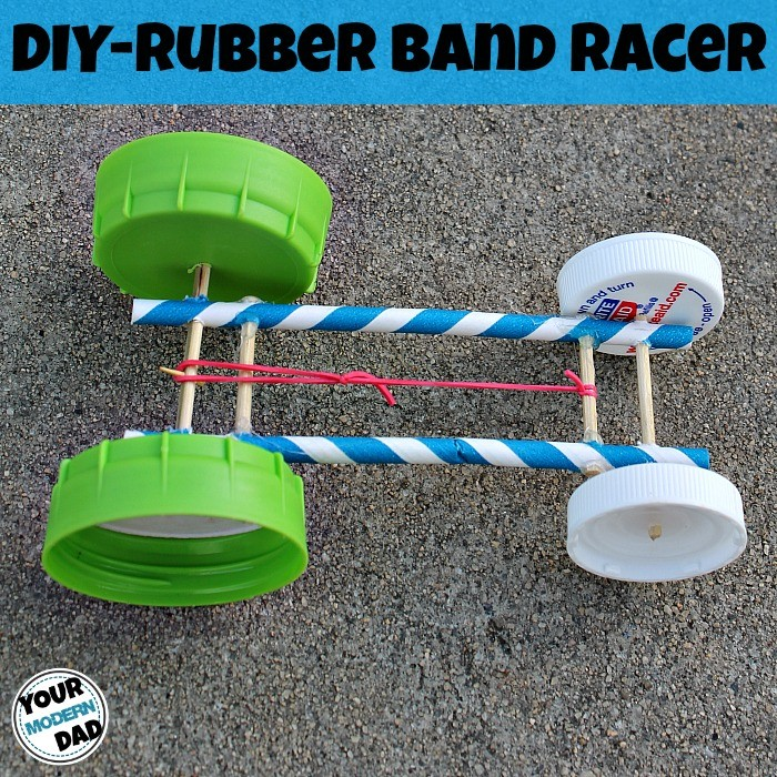 Diy rubber band racer your modern dad rubber band car malvernweather Image collections