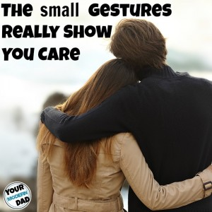 small gestures show you card
