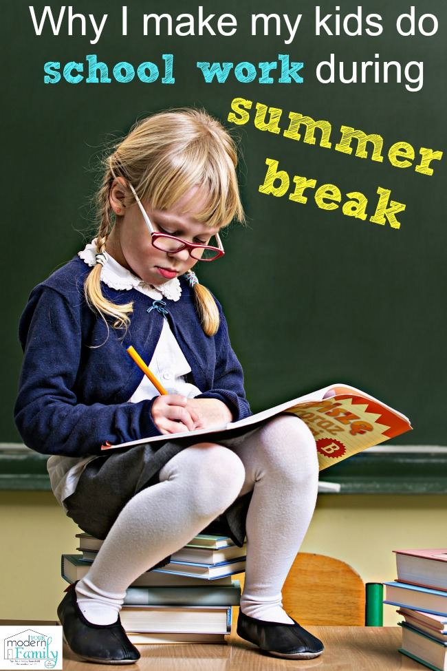 school work during summer break