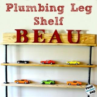 plumbing leg shelf