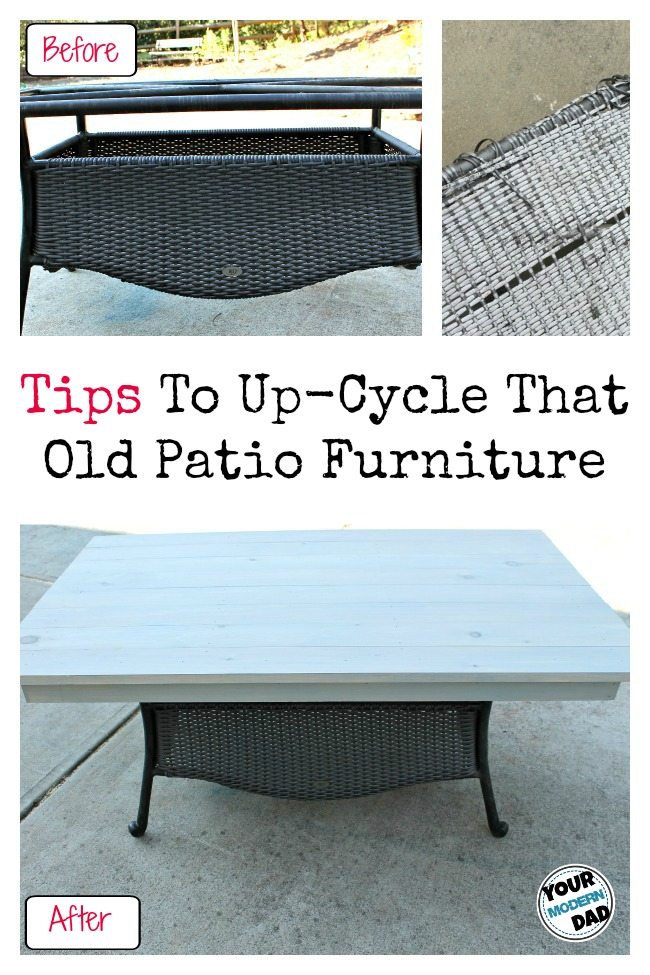 tips to up-cycle that old patio furniture