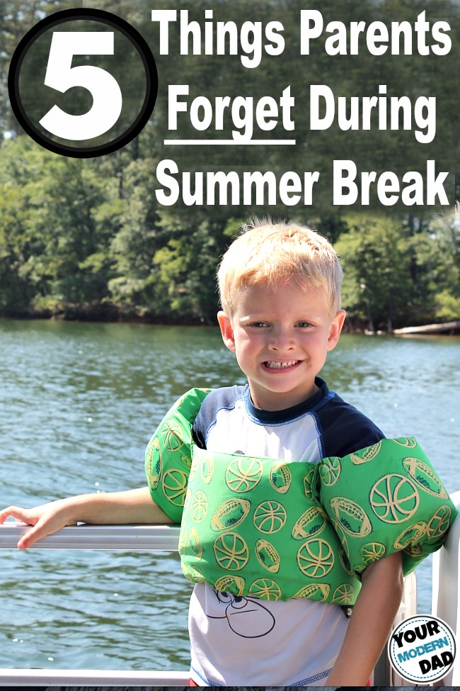 5 things parents forget during summer break