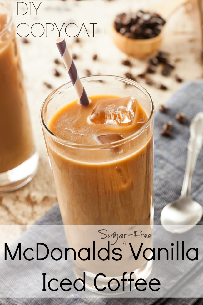 McDonalds Vanilla Iced Coffee - COPYCAT (tastes just like it!)