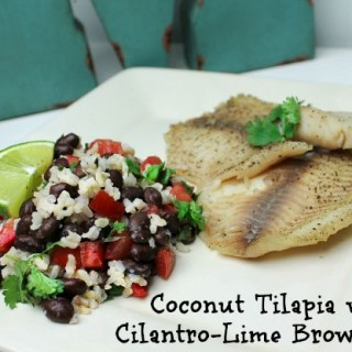 coconut tilapia with cilantro lime brown rice