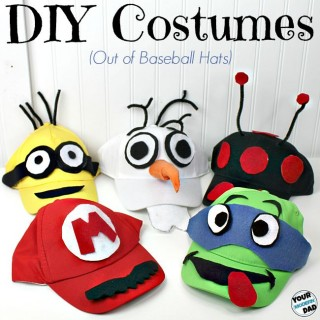 5 DIY costumes out of baseball hats – and a BOO! kit