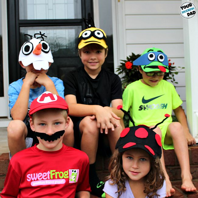 5 DIY costumes out of baseball hats - and a BOO! kit