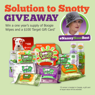 #NannyNoseBest Boogie Wipes Giveaway