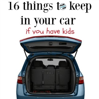 16 things to keep in your car (with kids)