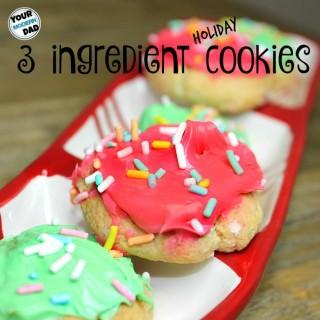3 ingredient holiday cookies
