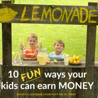 ideas for kids to make money