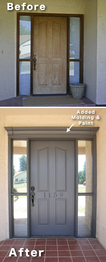 3.-Add-molding-and-paint-to-your-front-door-17-Impressive-Curb-Appeal-Ideas-cheap-and-easy