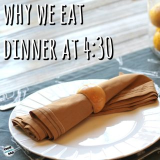 Why we eat dinner at 4:30