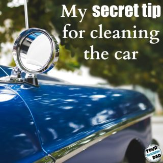 My secret tip for cleaning the car