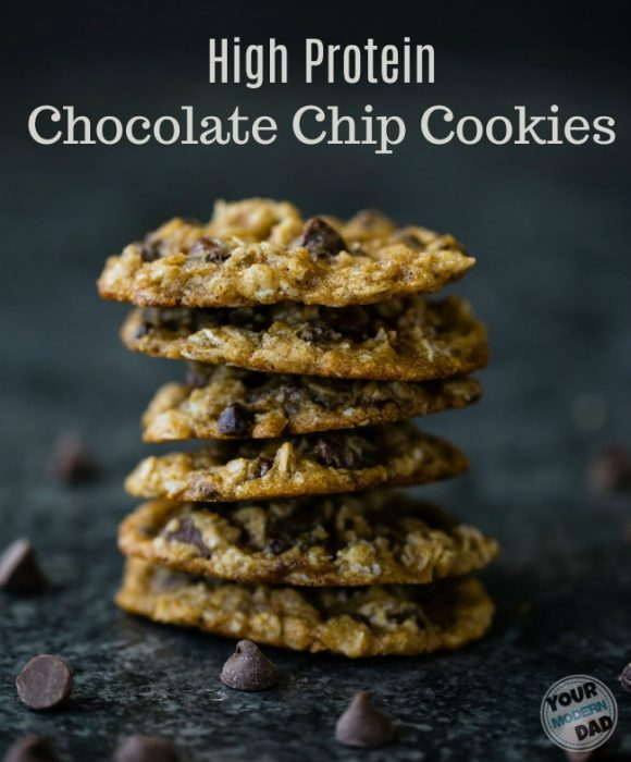 High Protein Oatmeal chocolate chip cookies