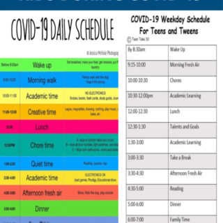 how to stick to a schedule for covid-19