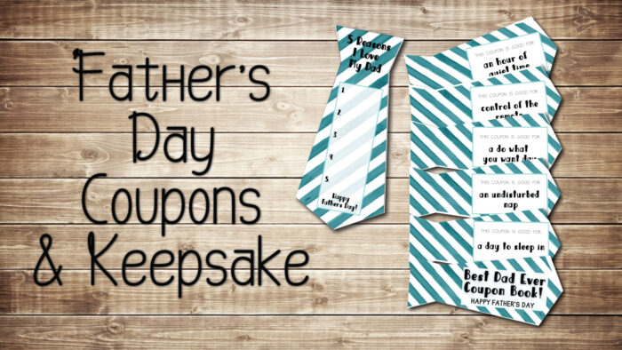 Fathers day coupon book for dad